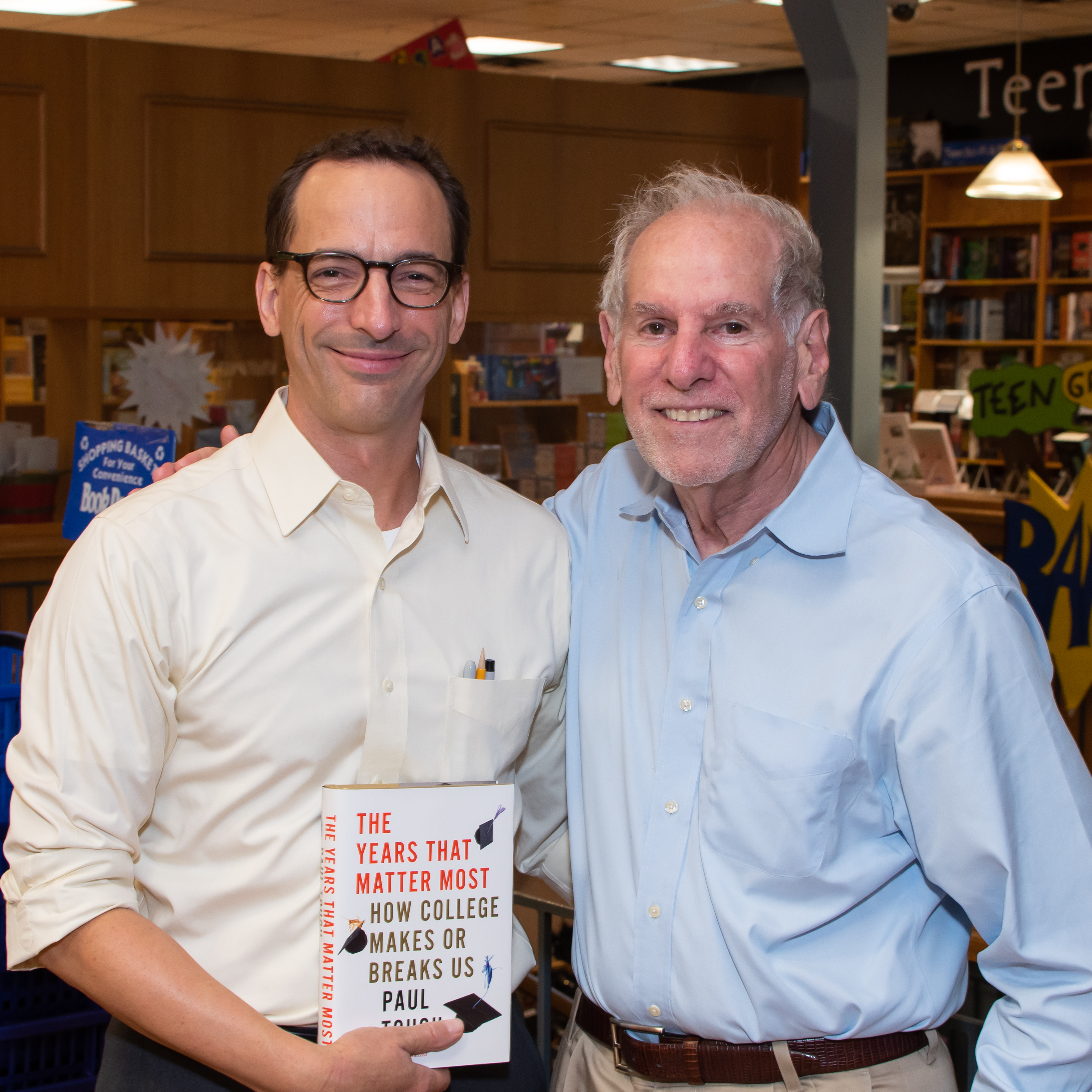 Paul Tough and Uri Treisman at BookPeople
