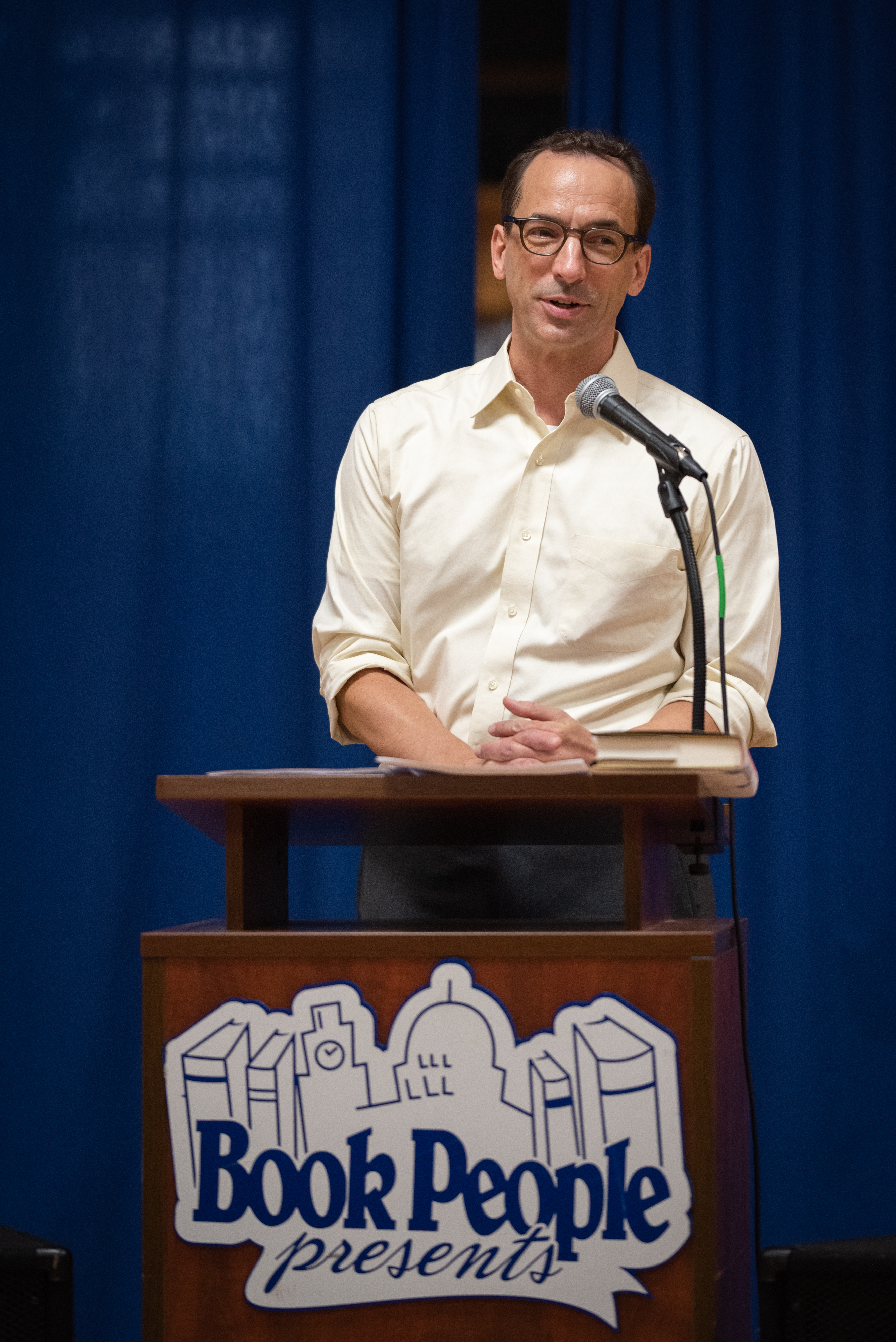 Paul Tough speaking at BookPeople