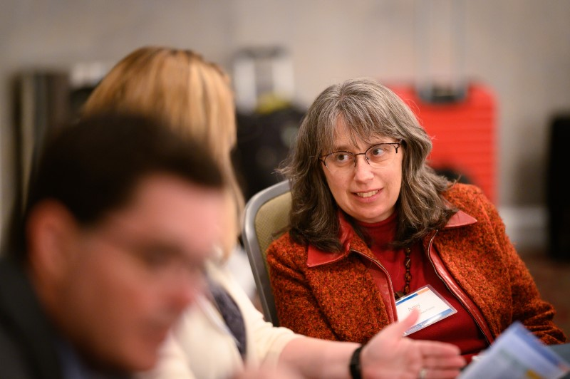 Amy Getz attends the Launch Years Consensus Panel convening in February, 2020. Photo by Phil Swann.