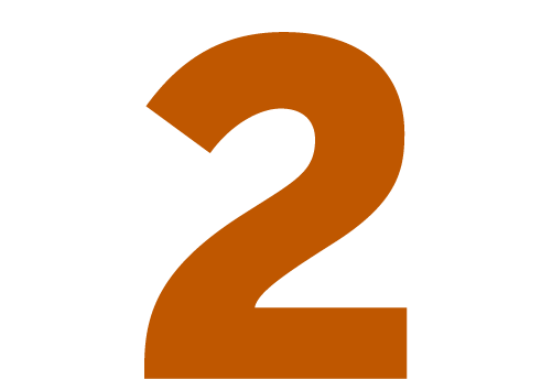 An icon showing the number 2.