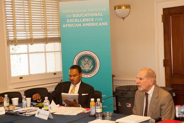 Uri Treisman speaks at a Commission meeting of the White House Initiative on Educational Excellence for African Americans on September 14, 2015