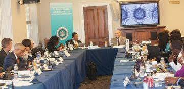Uri speaks to White House Commission